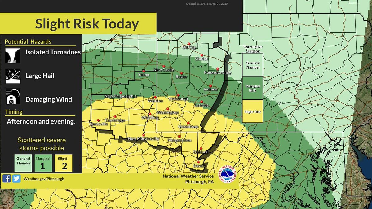 From NWS Pittsburgh: Potential for severe weather later today.