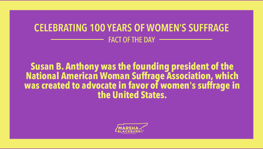 Susan B. Anthony's work paid off!  #100YearsofWomensSuffrage
