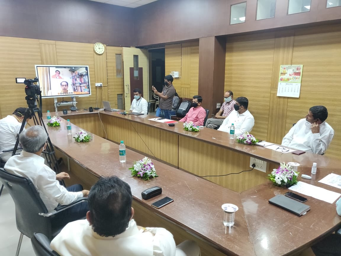 CM Uddhav Balasaheb Thackeray launched 'Mission Zero' in Ahmednagar today.   He also inaugurated a 25-beds advanced ICU, set up in the district hospital and launched an initiative to increase the testing capacity of the RT-PCR Laboratory at the district hospital.