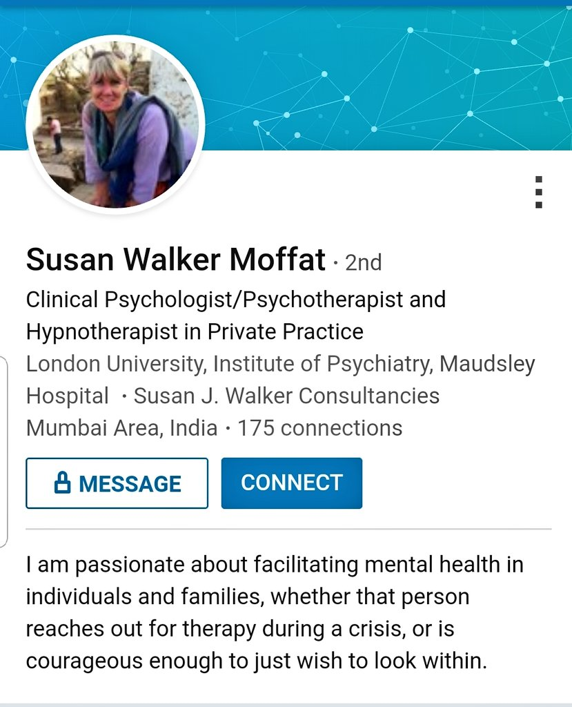 Ms Susan Walker Moffat said on record that Sushant Singh Rajput was suffering from Bipolar Disorder. I want to place on record that she's not a Psychiatrist. She doesn't have any medical degree. She is a Counsellor. She has done MSc in Psychology from London University.