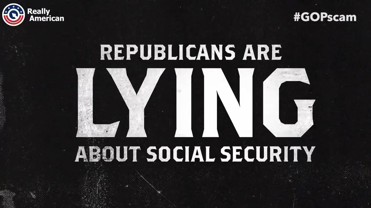 Put your hands up if you agree that Republicans are lying about social security as part of the #GOPscam to cut it.
