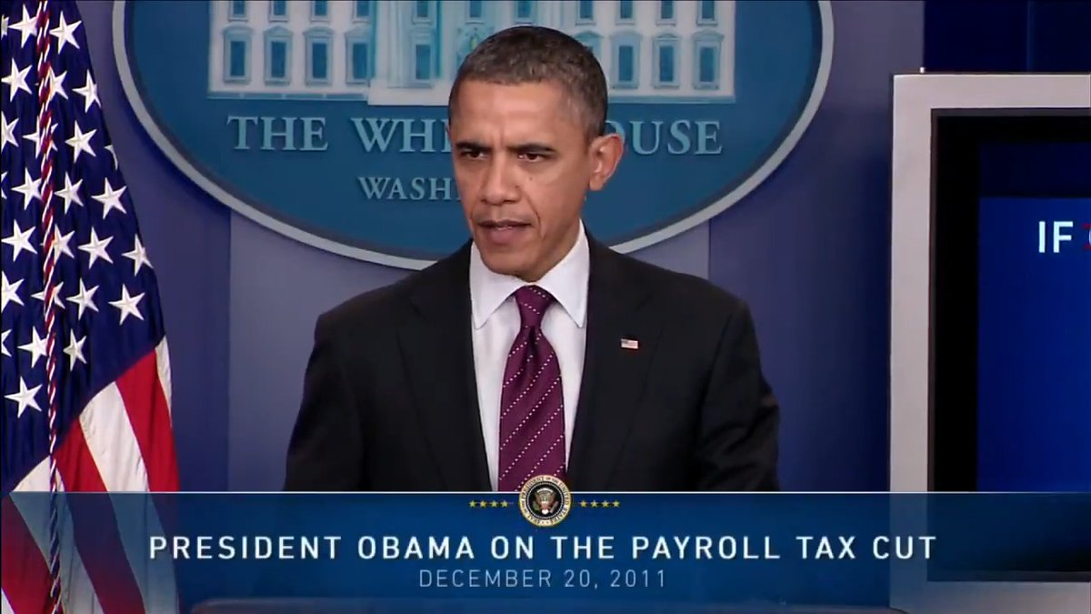 When @BarackObama spoke of payroll tax cuts, it was good for the people.   When @realdonaldtrump requests a payroll tax cut, Democrats claim it's not good for working people.  In the words of Obama, it's not a game when millions of Americans will take a hit by not passing it.