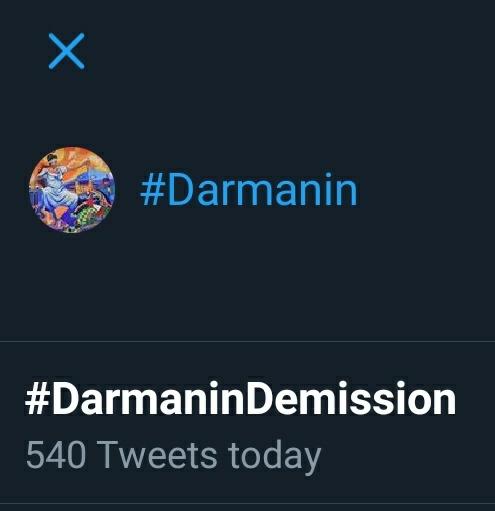 Bonjour et n'oubliez pas de tweeter #DarmaninDemission