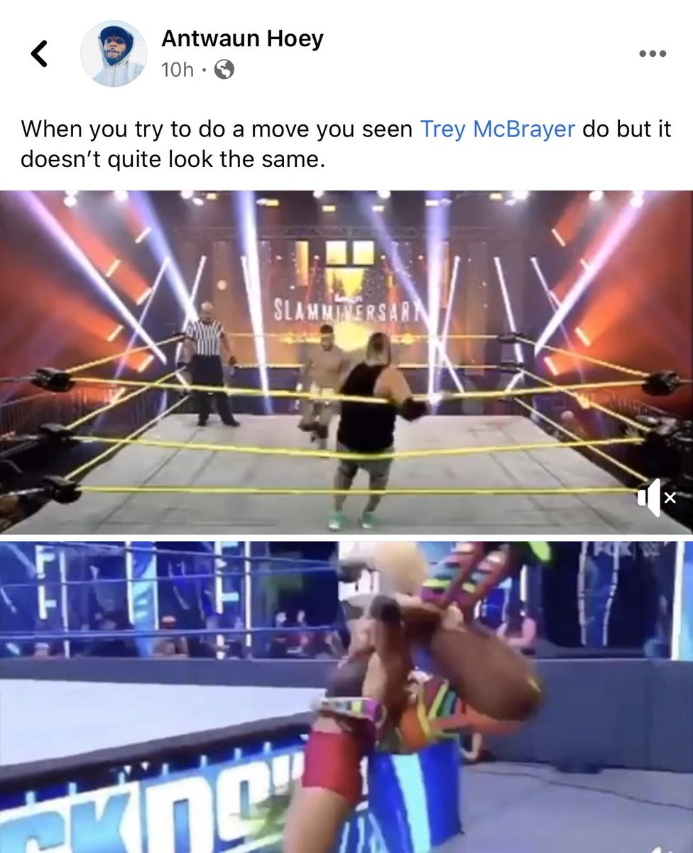 We love @TheTreyMiguel but coming for @NaomiWWE aint it. She wasn't even trying to do the Canadian destroyer. And have all wrestlers never botched a spot?