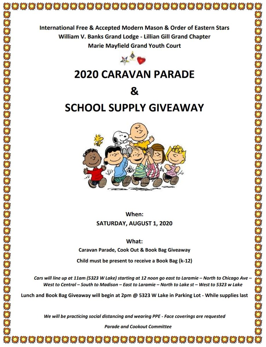 Today Summer Mobile assisted Pastor Mac at the William V. Banks Grand Lodge in the 15th District for the 2020 Caravan Parade and School Supply Giveaway. A great community event with an amazing turn out, Thank you Pastor Mac!