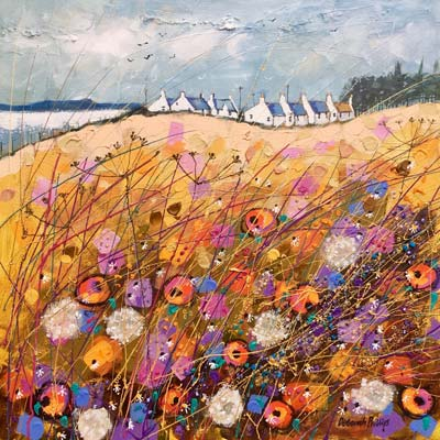 'On the Fife Coastal Path' by contemporary Scottish painter Deborah Phillips #womensart