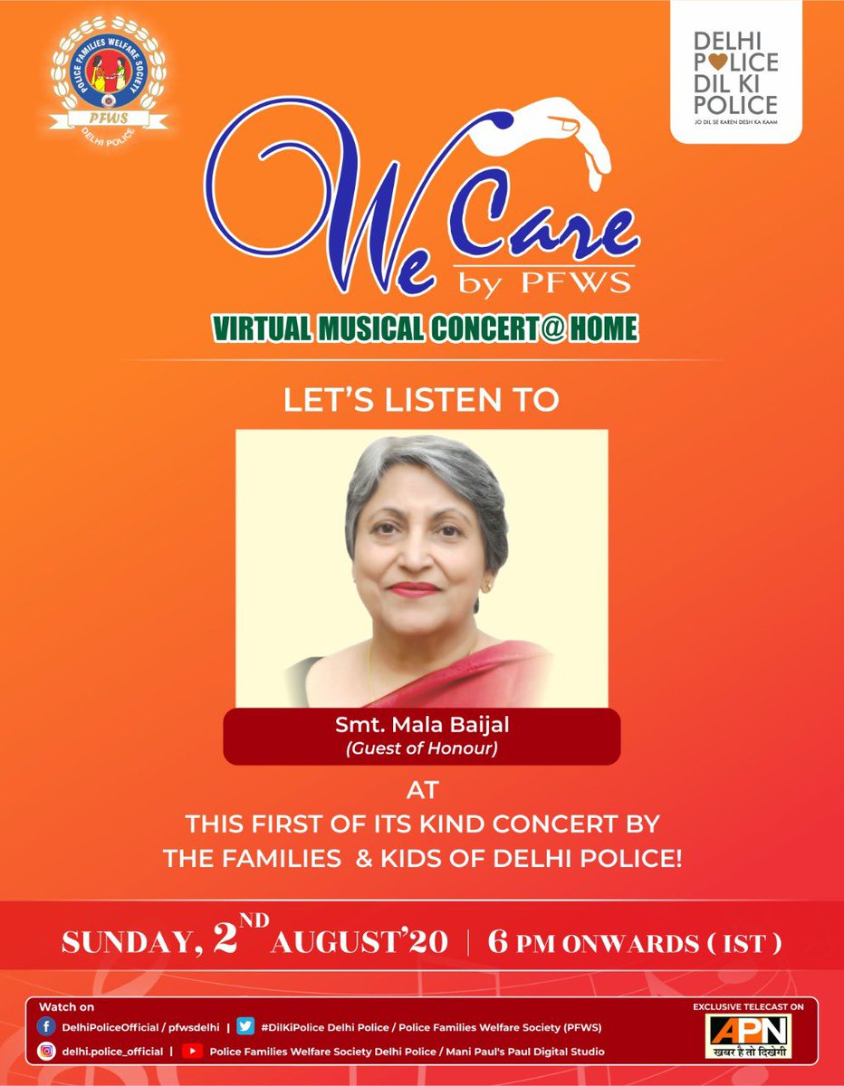 "Special Address by our notable Guests of Honour ""Smt.Mala Baijal"" and Smt. Aruni Doval"", today on the show!"