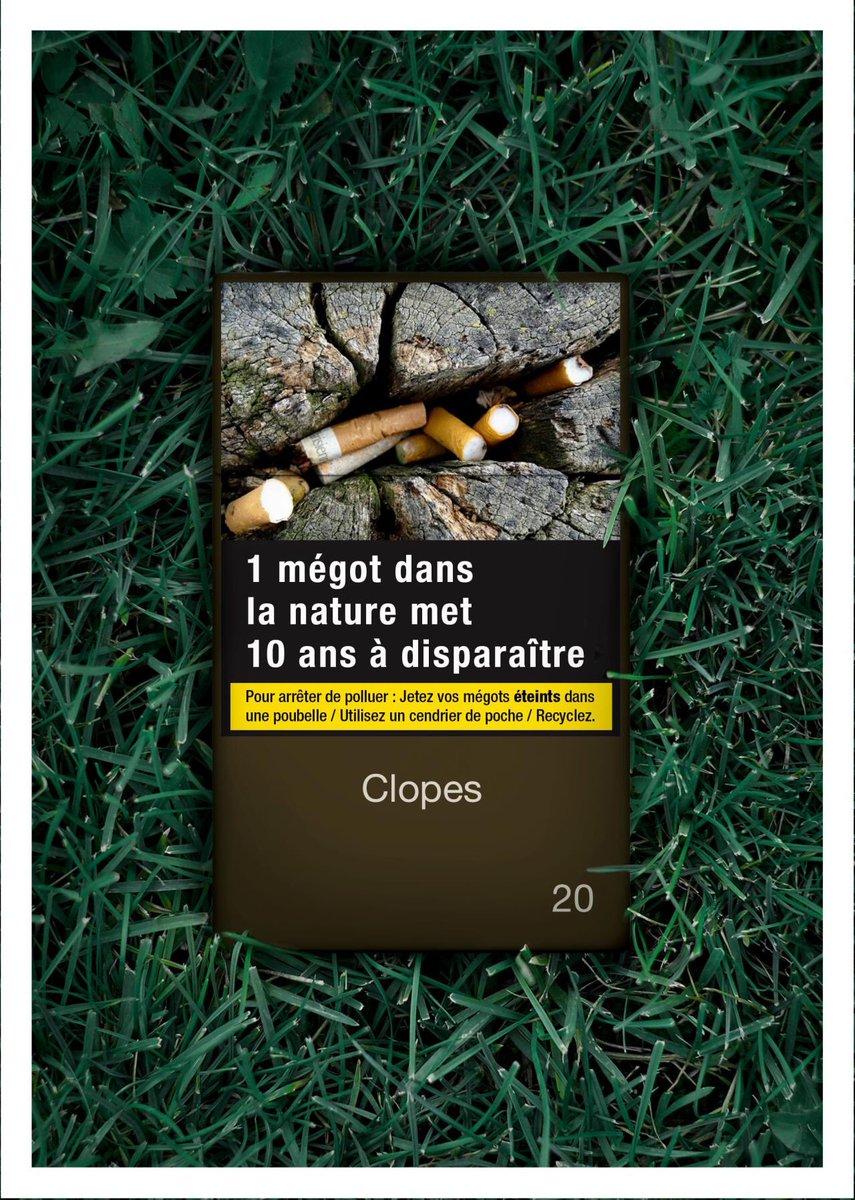 🚬 Le message «Fumer tue» étant dorénavant relativement bien ancré et intégré ; et si l'on en profitait pour sensibiliser en parallèle à un autre sujet tout aussi important ? 🌱 Une idée originale et pertinente d'@AliceAmiel  #Tabac #Environnement #Ecologie #Santé