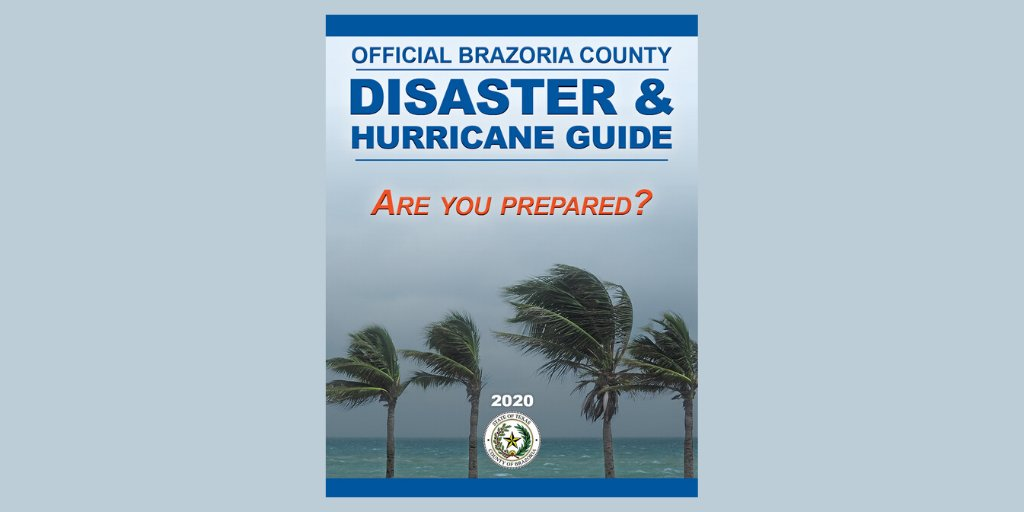 Have you gotten a copy of the 2020 BC Disaster & Hurricane Guide? If not, you can download it here.   #StaySafeBC #HurricaneGuide #BrazoriaCounty #HurricanePreparedness #HurricaneSeason   NOW is the time to prepare!