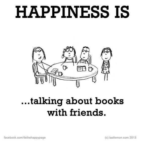Even if we have to do it online nowadays it still means happiness! #NationalBookLoversDay #bookclubs #friends #reading