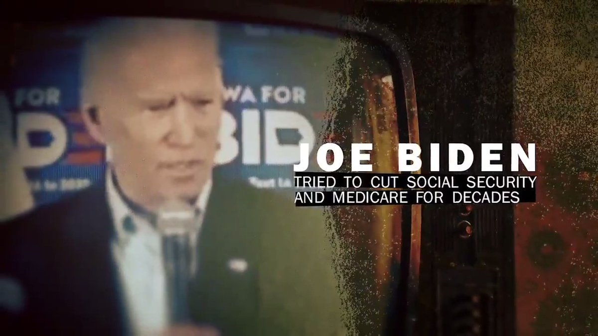 Joe Biden tried to cut Social Security and Medicare for decades.  Now, Biden is promising YOUR benefits to illegal immigrants.  President Trump is protecting Social Security and Medicare!