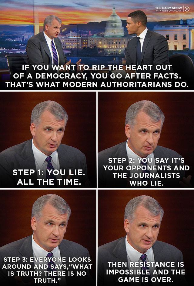 ".@TimothyDSnyder, author of ""On Tyranny,"" outlines the steps of dismantling a democracy. Full interview:"