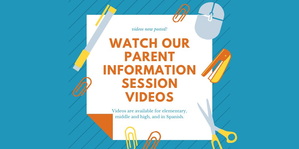 Want more information about VCS' Back to School reopening plan? Videos of our Parent Information Sessions for elementary, middle, and high school, and in Spanish, are at: