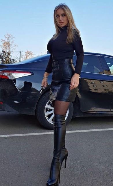 #thighhighboots #leather