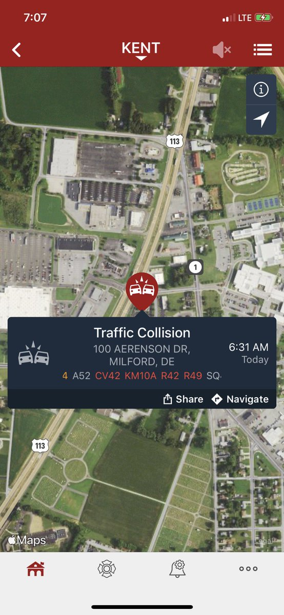 Avoid North DuPont Boulevard (US Rt 113) in the area of Northwest 10th Street due to emergency personnel on the scene of a motor vehicle collision.