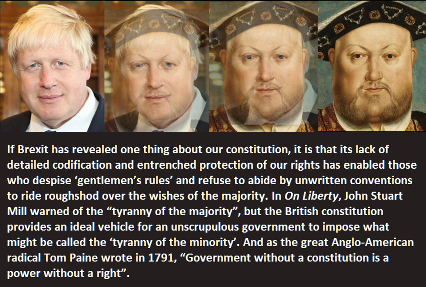 """""""Power without a right.""""  Boris Johnson's government is assuming unprecedented powers to create new laws without parliamentary scrutiny - and we should all be worried, writes Ann Higgins in the new edition of West Country Bylines."""
