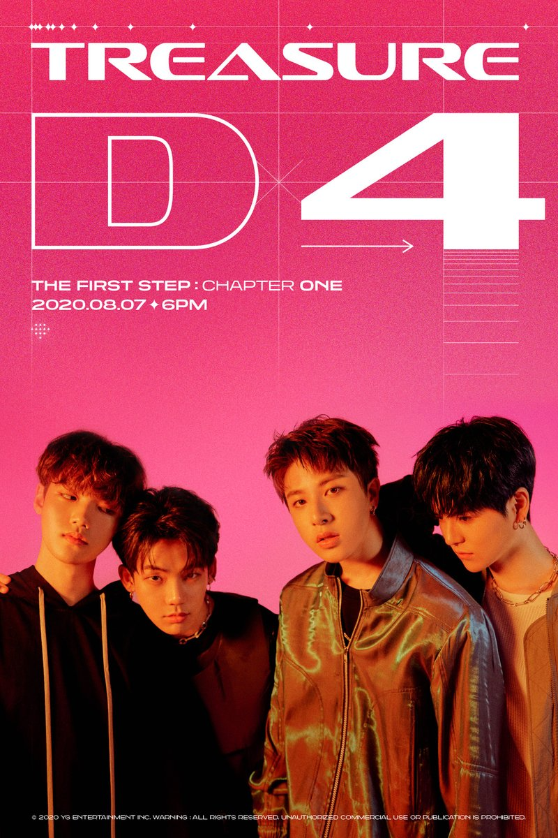 #TREASURE 'THE FIRST STEP : CHAPTER ONE' D-4 POSTER  1st SINGLE ALBUM 'THE FIRST STEP : CHAPTER ONE' ✅2020.08.07 6PM  #트레저 #1stSINGLEALBUM #THEFIRSTSTEP_CHAPTERONE #D_4 #20200807_6PM #YG