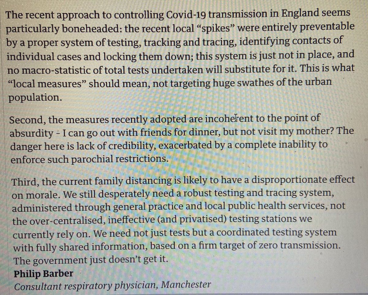 Covid policy: 'incoherent to point of absurdity' -A consultant respiratory physician  writes,  @guardian