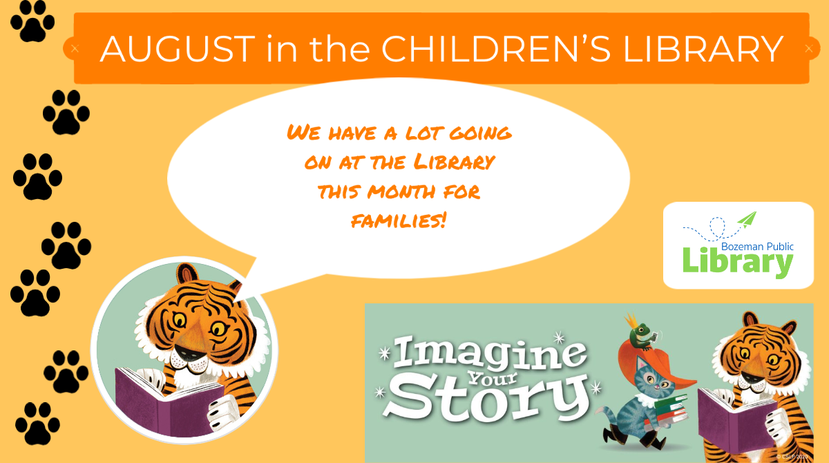 The Children's staff is continuing to offer stories and activities each weekday from 12-1 outside the Library during the free summer lunch program (provided by HRDC).   See our Facebook page for full details!  We have some great thing planned!  Join us!