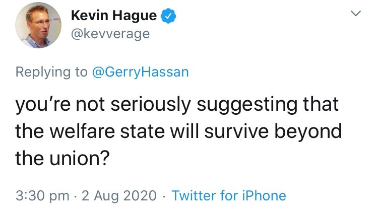 Gerry should remind this chancer (because he knows about it already) that public spending is significantly higher in our independent neighbours Iceland, Norway and Denmark etc etc