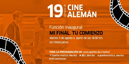 """""""Mi final. Tu comienzo"""" es la película con la que inauguramos la #19CineAlemán  🗓️Martes 4.08 ⌚️18 hrs 📺💻📱En la plataforma @filminlatino  #gratis  ➡️   Sigan el siguiente hilo con más información sobre esta película:"""