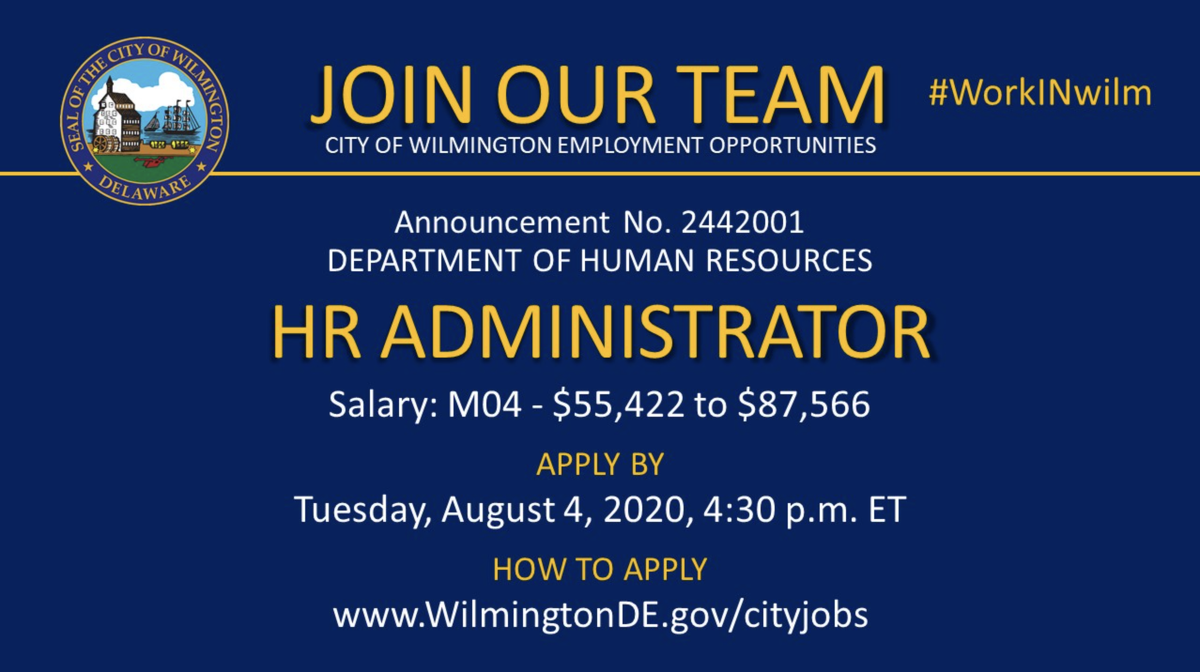 📣 #NOWHIRING: HR Administrator  This position will remain open until Tuesday, August 4, 2020. Apply online today!  Apply here ➡️     #WilmDE #netDE #jobalert #jobsDE #jobs #cityjobs #HR #HumanResources #HRadmin #HRadministration #administration #admin