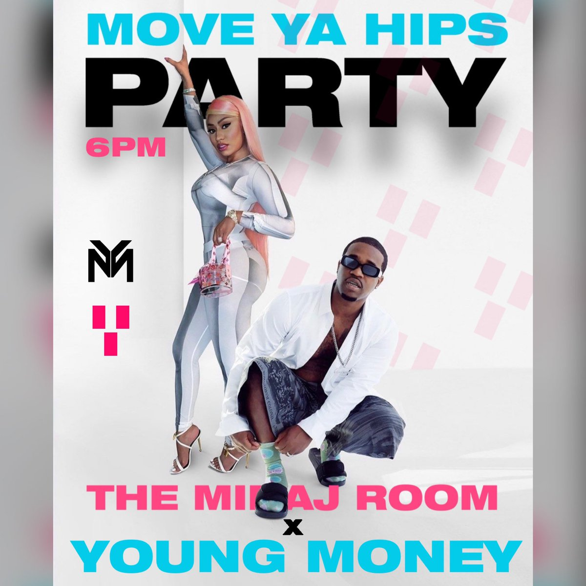 "#MoveYaHips featuring @nickiminaj @asapferg & @madeintyo is one of the hottest songs out right now! 🔥🔥😎@theminajroom x @youngmoney are hosting a Global Streaming & Buying Party at 6PM EST! 🎧 Use phrase ""BUY MYH"" on Twitter"" to trend at 6:00PM! GET READY! Spread the word!"