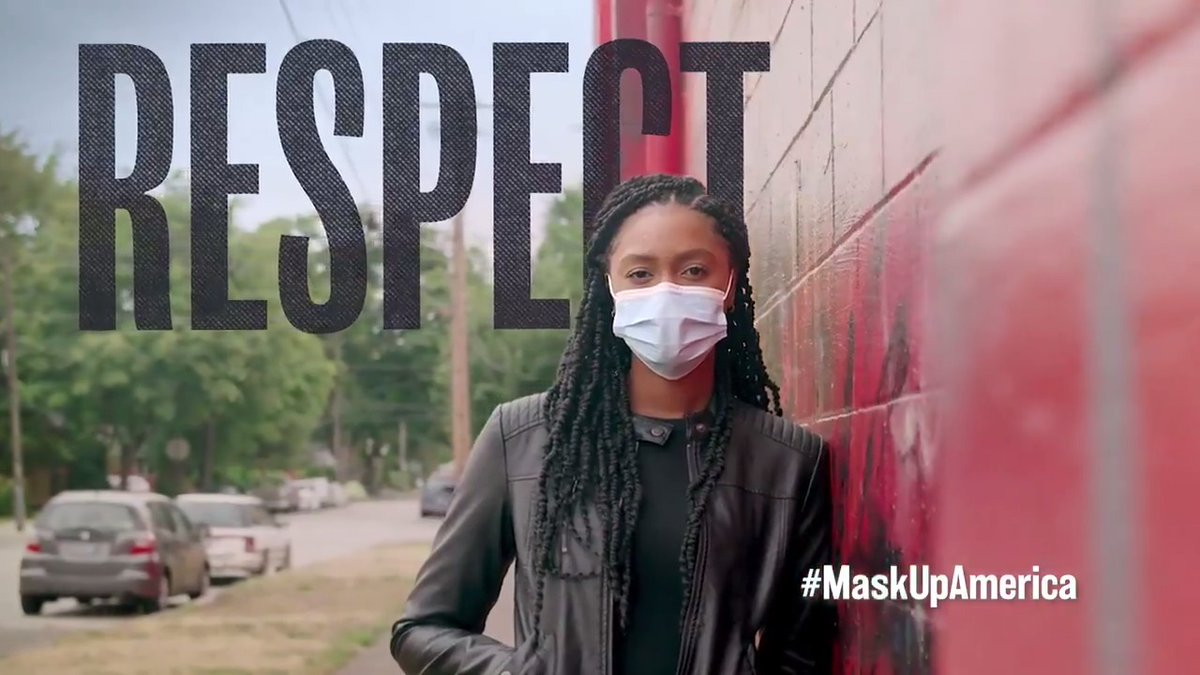 Show respect. Show you give a damn. Wear a mask. #MaskUpAmerica