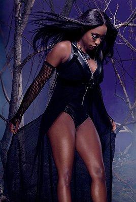 Naomi for the undertaker halloween photoshoot