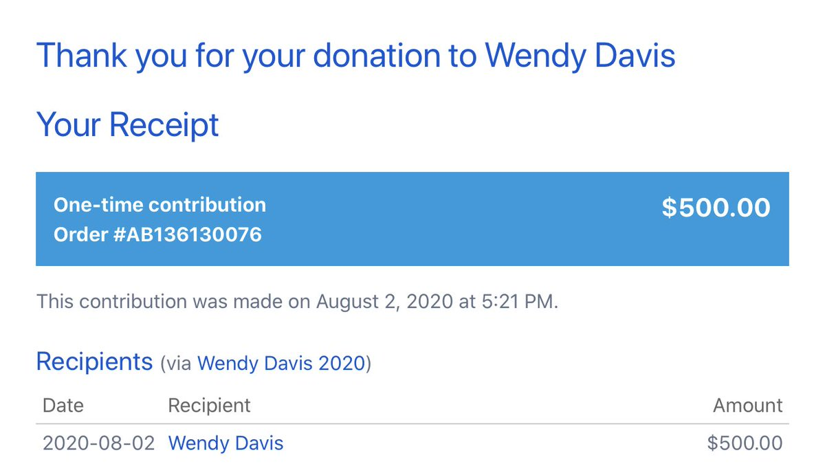 Some more info from my sons: The incumbent in #TX21 is Chip Roy. He's former chief of staff to Ted Cruz, voted against the pandemic relief bill in March & last week suggested it is all a hoax. Follow @wendydavis & help her win: