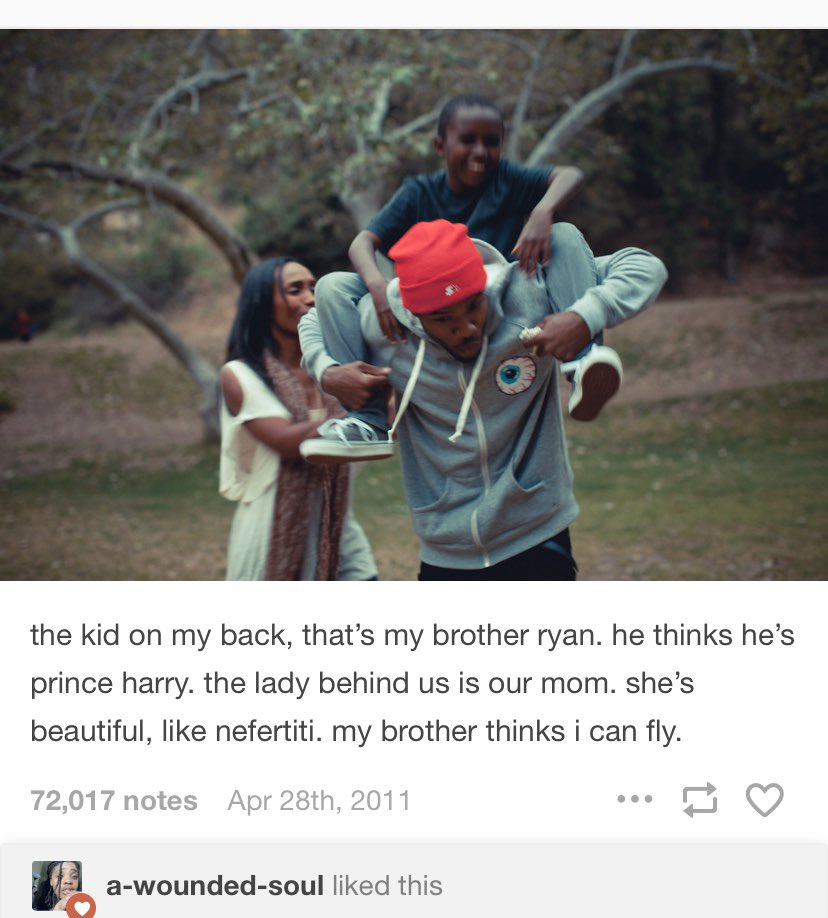 rest in peace, ryan breaux; frank ocean's little brother. this will forever be one of my favorite posts by frank </3