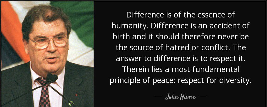 Heartbroken at the news that John Hume has passed away  As a Civil Rights leader, John dedicated his life to fighting injustice. In the darkest of hours he was a light of hope  He'll always be remembered as the man who made peace possible. Our thoughts with SDLP & John's family