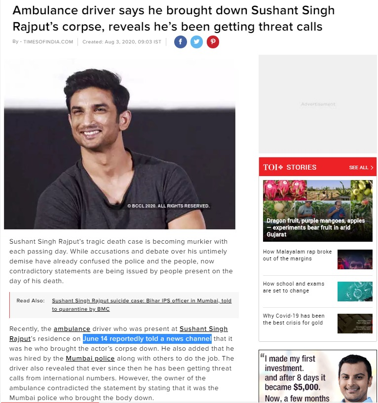 Dear @timesofindia, any specific reason you are shy of naming India's #1 news brand Republic as the source of your article? This seems to be editorially lifted from our investigative report. Next time remember to credit @Republic before taking our content