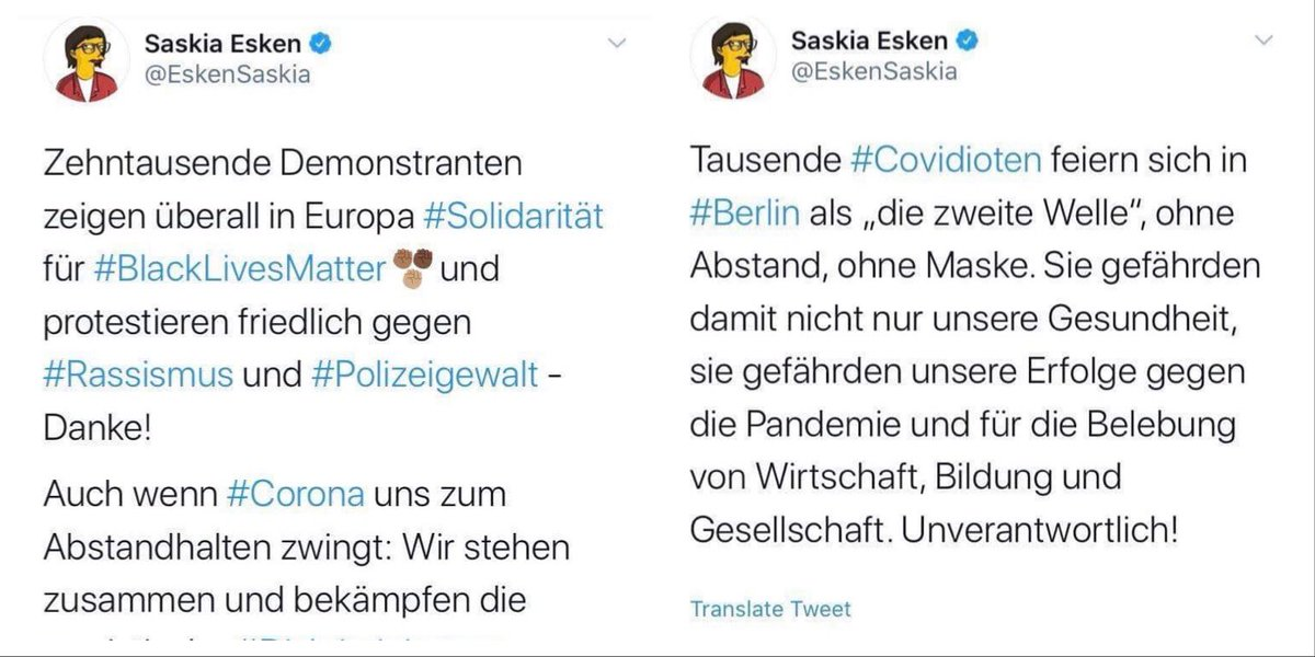 @VICtoryDE87 @Ralf_Stegner Esken-eske Wahrnehmung ist in der #SPD angesagt.