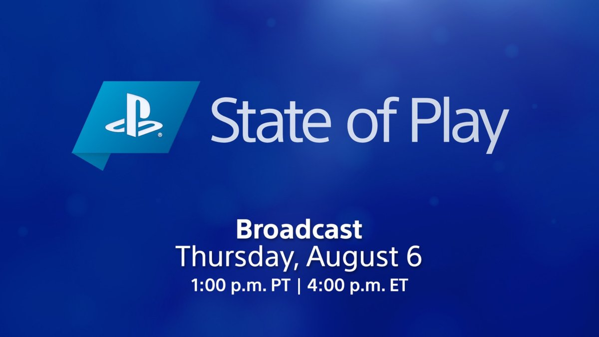 State of Play returns Thursday at 1:00pm Pacific!   What to expect: ▪️ A focus on upcoming PS4 & PS VR games ▪️ A few quick check-ins on third-party and indie games from June's PS5 showcase ▪️ No big PS5 announcements!  Tune-in details: