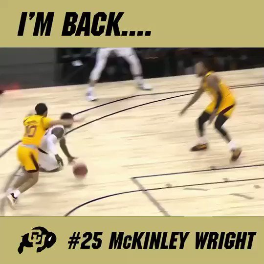 Former @ChamplinParkHS basketball star McKinley Wright has made it official: he's withdrawing from the NBA draft and returning to the University of Colorado for his senior season. Congrats, McKinley! | #AHSchools @CPHSRebelPride @kin_wright25 @CUBuffsMBB