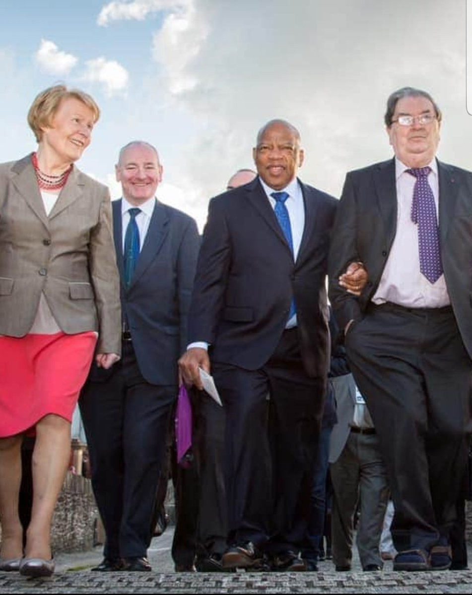 It is a strange thing that John Lewis & John Hume would both pass in such a short space of time.  Civil Rights in the North was inspired by Civil Rights in the US.  In 2013, Lewis and Hume linked arms as they crossed the Peace Bridge - huge mutual respect