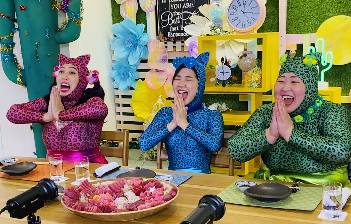 "test ツイッターメディア - #3時のヒロイン は新キャラに挑戦❗️  ""45kgの大間のマグロ一匹を身はもちろん、骨や内臓まですべて食べ尽くす""大食い企画「3時のヒロイン完食オセロット」🐆🐆🐆💗  助っ人に #乃木坂46 の大食い女王 #松村沙友理 さんに#丸山桂里奈さん、さらに大食いYouTuber #はらぺこツインズ が参戦❗️ https://t.co/k6X1SKKwLR"