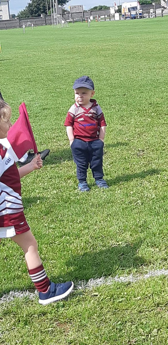 Why does my nephew look like a 60-year-old auld fella at the GAA though?
