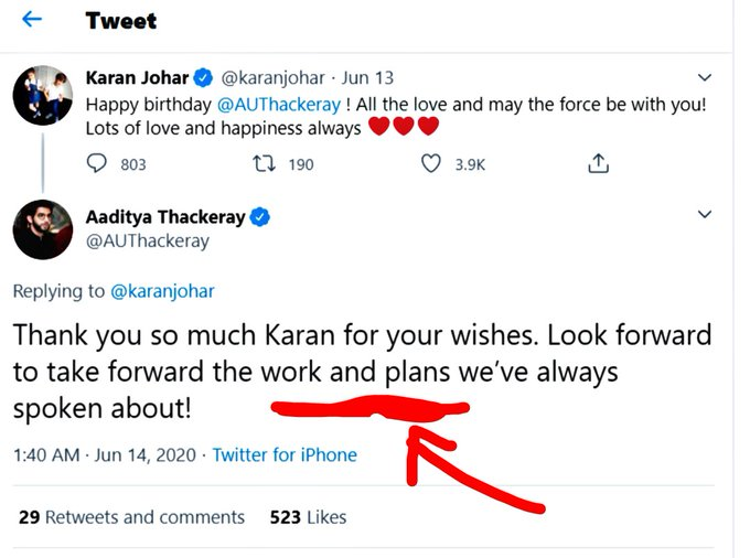 #adityathackeray tell me one thing in the midnight which kind of work and plans u've to take forward? As far as I know neither ur an actor nor Karan is a politician,so which kind of plans u've made with @karanjohar? We want to know ur plans!