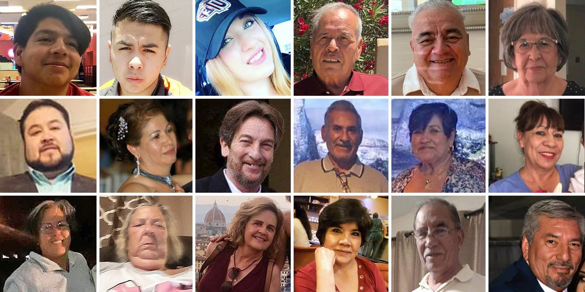 Today is the one year remembrance of the El Paso shooting.   We lost 23 people that day.  All that these innocent people did was go to shop at a WalMart.  We can do something about this and following the election of @JoeBiden we will.