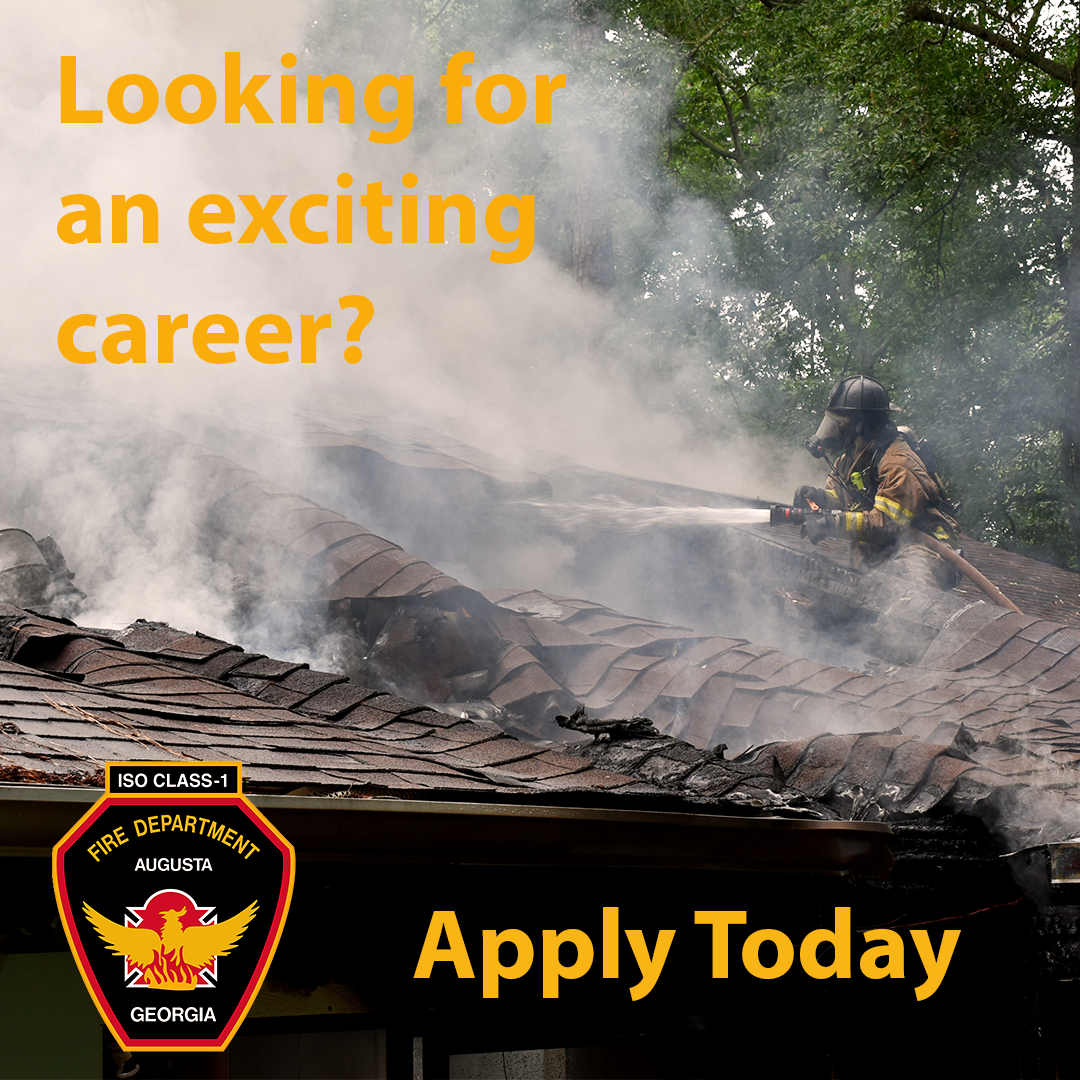 Some run from danger. Others run towards it.  Which one are you?  Help protect #Augusta  Become a #Firefighter 🚒 #EMT today 🚑  Click the link to apply ➡️   #jobs #applynow