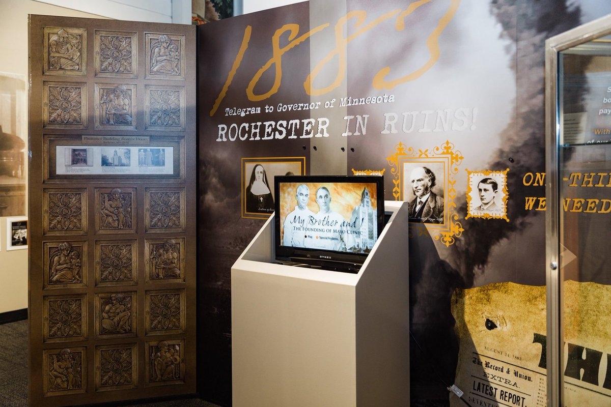 @HCOC features rotating exhibits on the people and events that shaped the history of Olmsted County. Admission fees: Adults (12 & up) - $5.00, Children (2 - 12) - $2.00, Children under 2 and Members – free • #ExperienceRochesterMN #RochMN