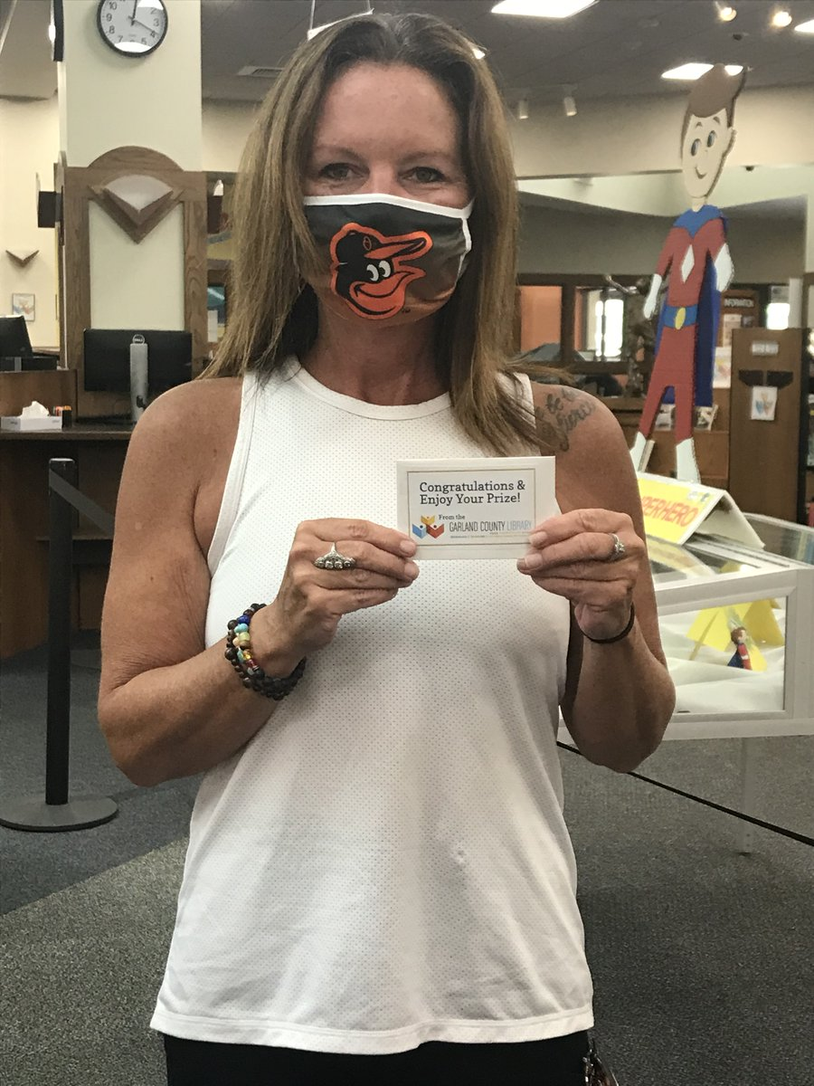 Our Summer Reading Program winners are starting to collect their prizes. 229 adult readers logged a total of 2,443 books this summer!  #gclibrary #garlandcountylibrary #summerreadingprogram