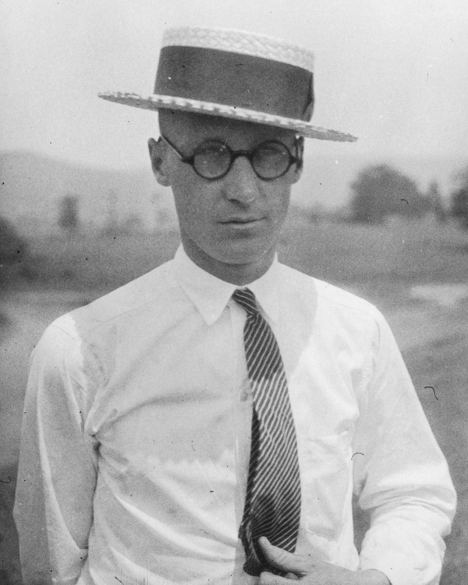 """John Scopes was a teacher born 8/3/1900. He's known for the """"Scope's Monkey Trial"""", a test case responding to the 1925 Tennessee Butler Act which made it illegal to teach evolution in school. Scopes was convicted, but the Butler Act was eventually repealed in 1967. #MCM #CCLmcm"""