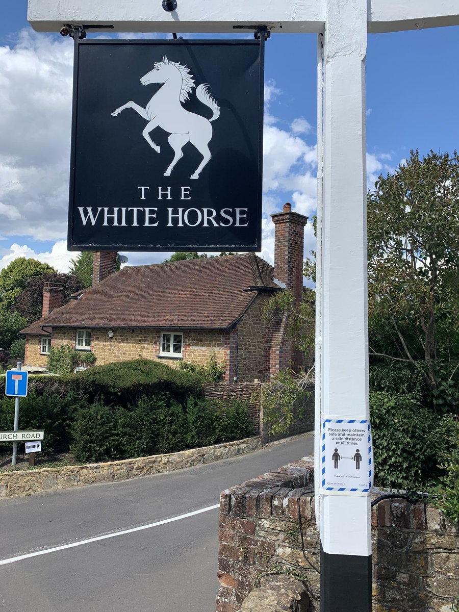 Delicious lunch at the White Horse in Hascombe - thanks to Paul and Sorrel Morganti and their great  team and of course to ⁦@RishiSunak!⁩ #EatOutToHelpOut