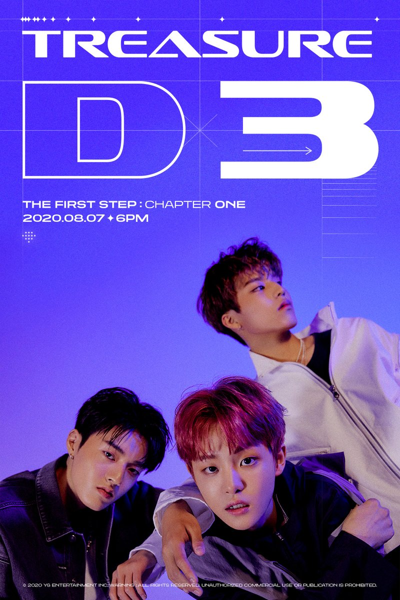 #TREASURE 'THE FIRST STEP : CHAPTER ONE' D-3 POSTER  1st SINGLE ALBUM 'THE FIRST STEP : CHAPTER ONE' ✅2020.08.07 6PM  #트레저 #1stSINGLEALBUM #THEFIRSTSTEP_CHAPTERONE #D_3 #20200807_6PM #YG