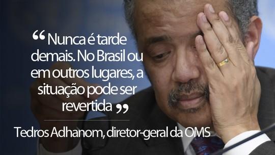 OMS alerta sobre situação preocupante no Brasil e pede união de governos para frear pandemia no país =>  #G1
