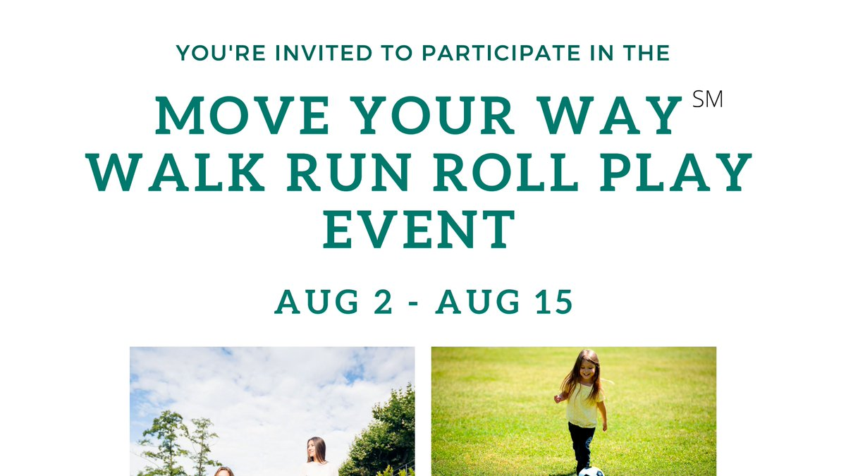The #MoveYourWay Walk Run Roll Play Event has started.  Reply to this tweet and share a photo or tell us how you walk, run, roll, or play!  All individuals who reply will be eligible for prizes.