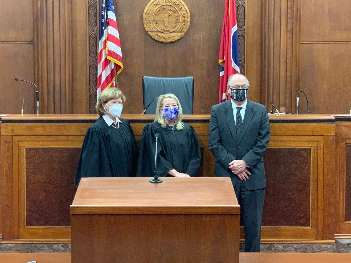Judge Kristi Davis was sworn in today as the newest member of the Tennessee Court of Appeals: